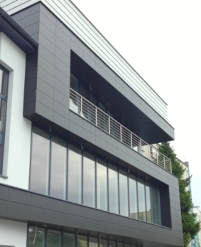 We manufacture and install glass and aluminium facades in office buildings, institutions, individual houses, schools. We can do any kind of elevation, in any colour and shape.